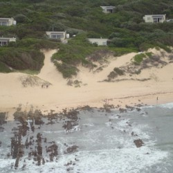 Aerial view of port alfred beach