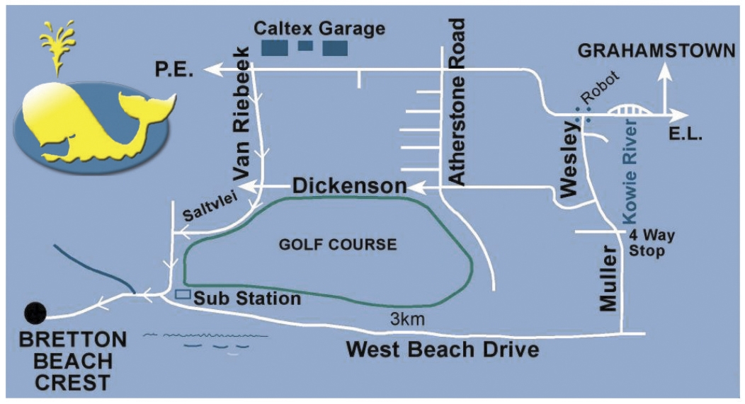 Bretton Beach Map